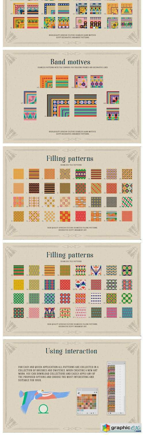 117 Egypt Patterns Brushes & Swatches