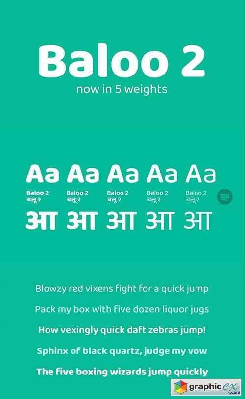 Baloo 2 Script Font