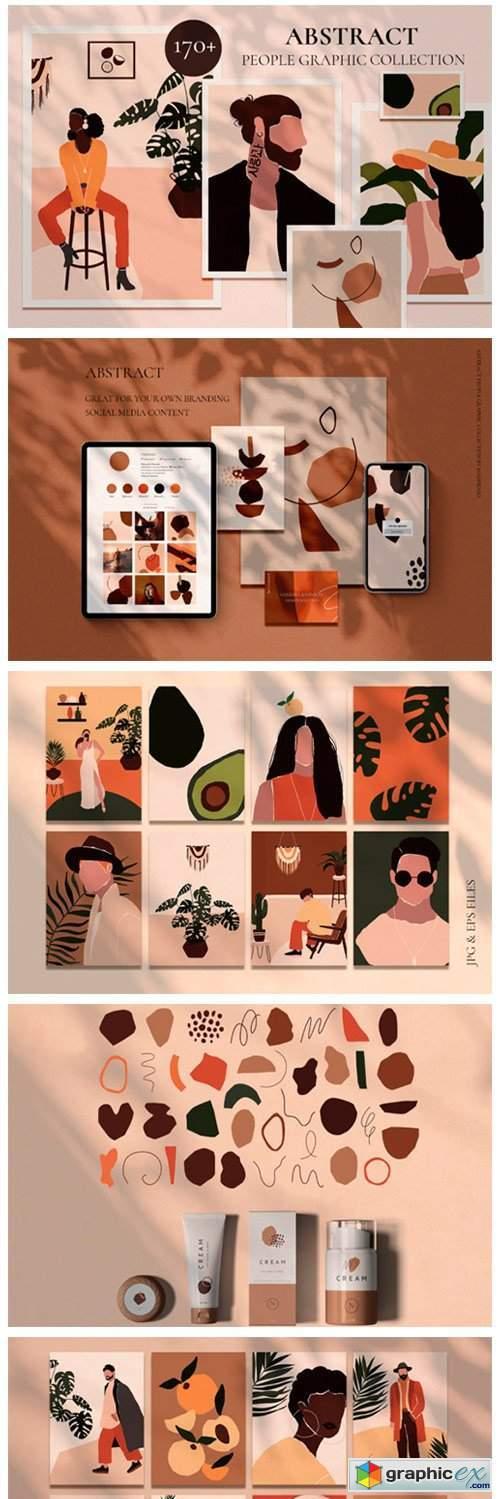Abstract People Prints Modern Art