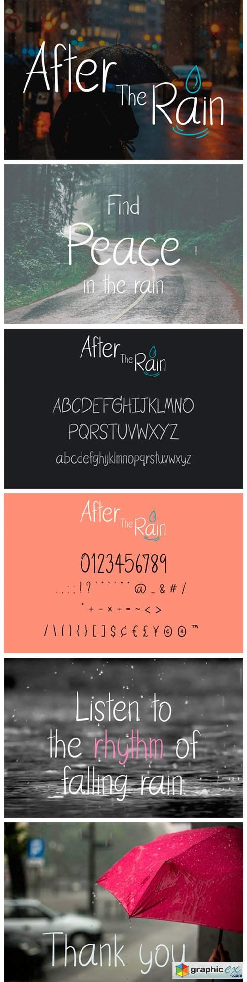 After the Rain Font