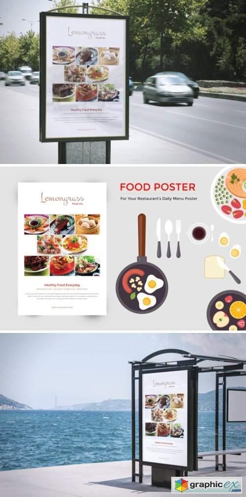 Food Menu Display Poster