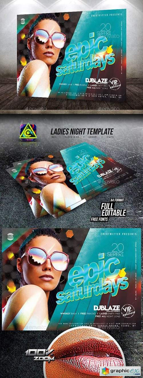 Ladies Night Flyer Template 25832028