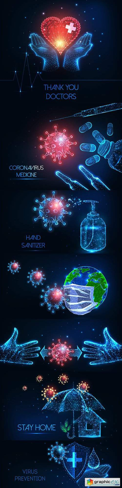 Futuristic concept antiviral coronavirus covid-19 virus