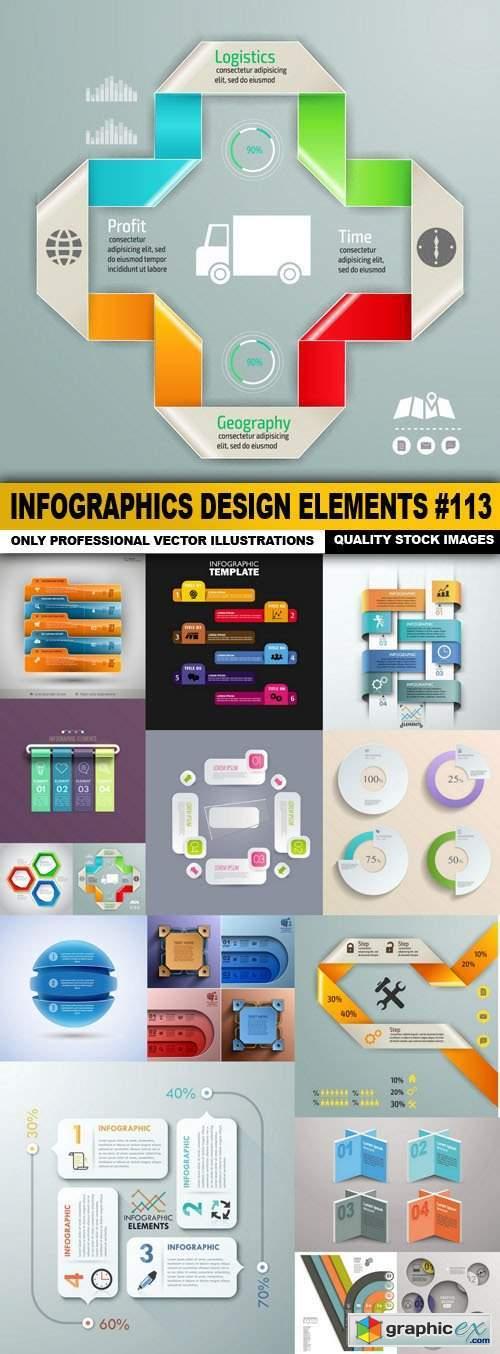 Infographics Design Elements #113 - 15 Vector