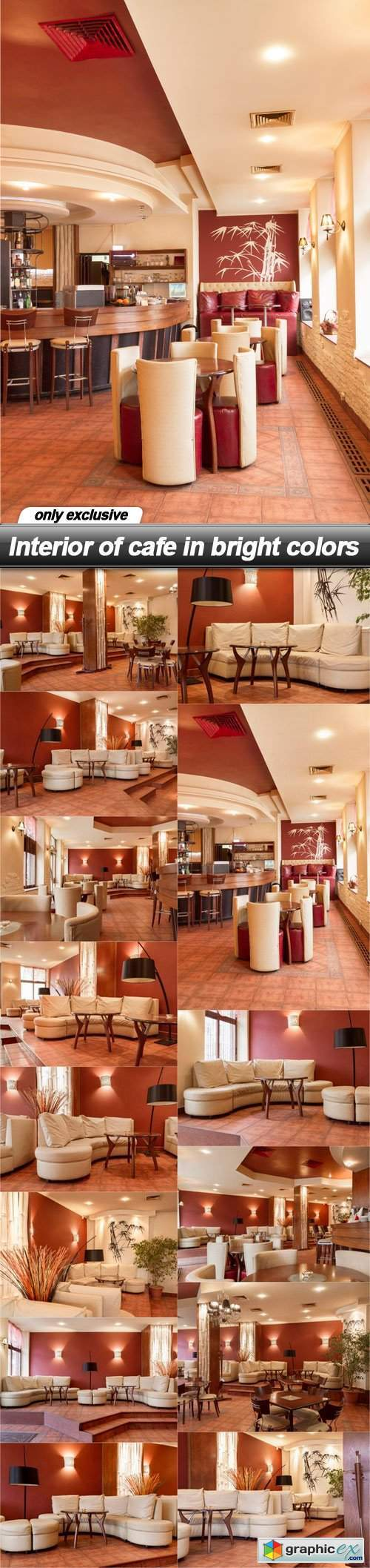 Interior of cafe in bright colors - 14 UHQ JPEG