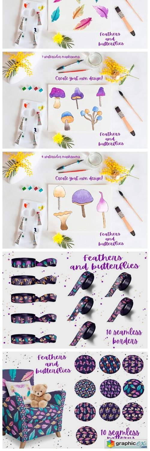 Feathers and Butterflies Collection