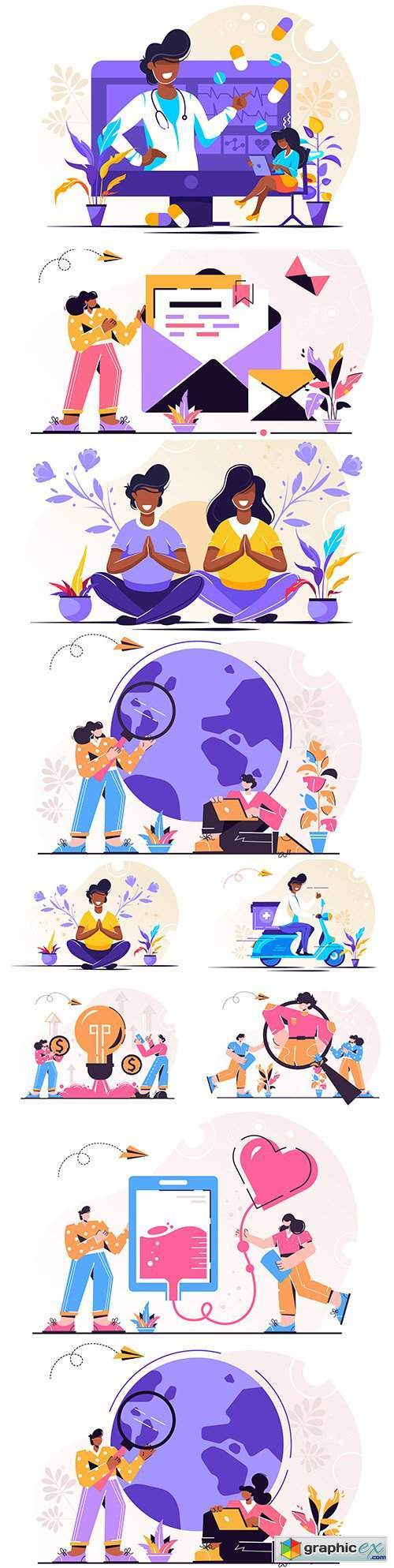 People different professions and lifestyle flat design 6