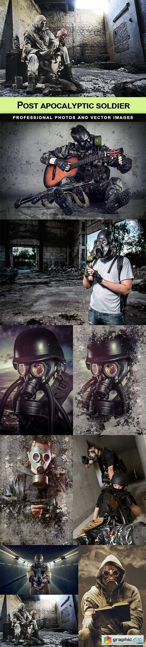 Post apocalyptic soldier - 9 UHQ JPEG
