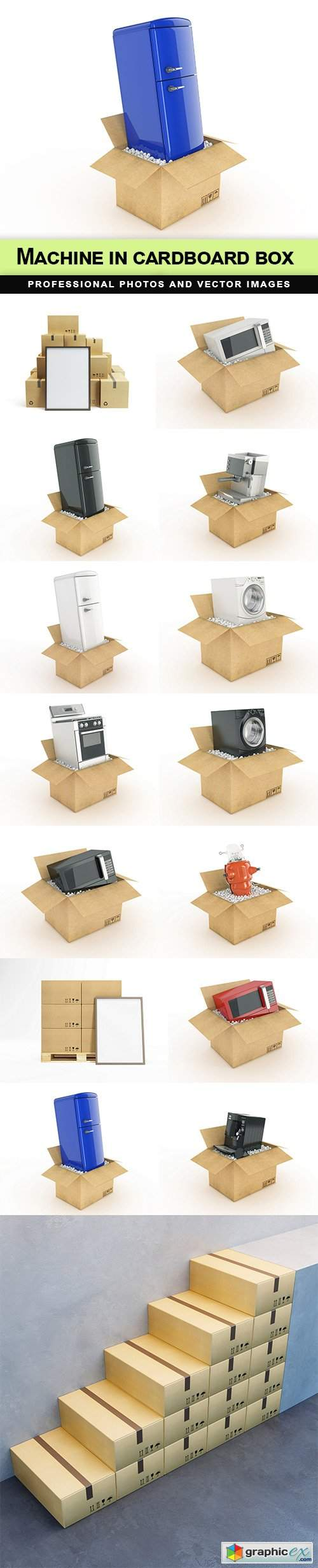 Machine in cardboard box - 15 UHQ JPEG