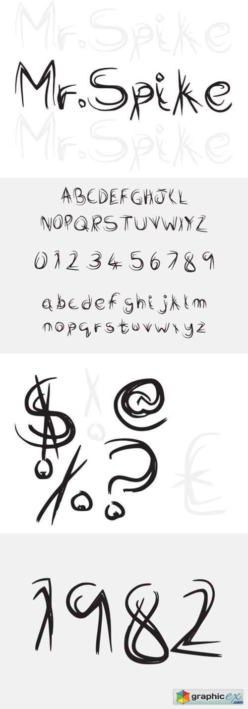 Mr Spike Font