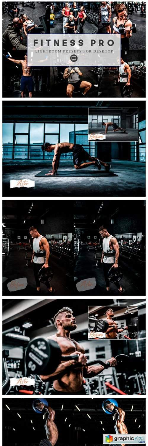 12 Lightroom Presets Fitness Pro and ACR