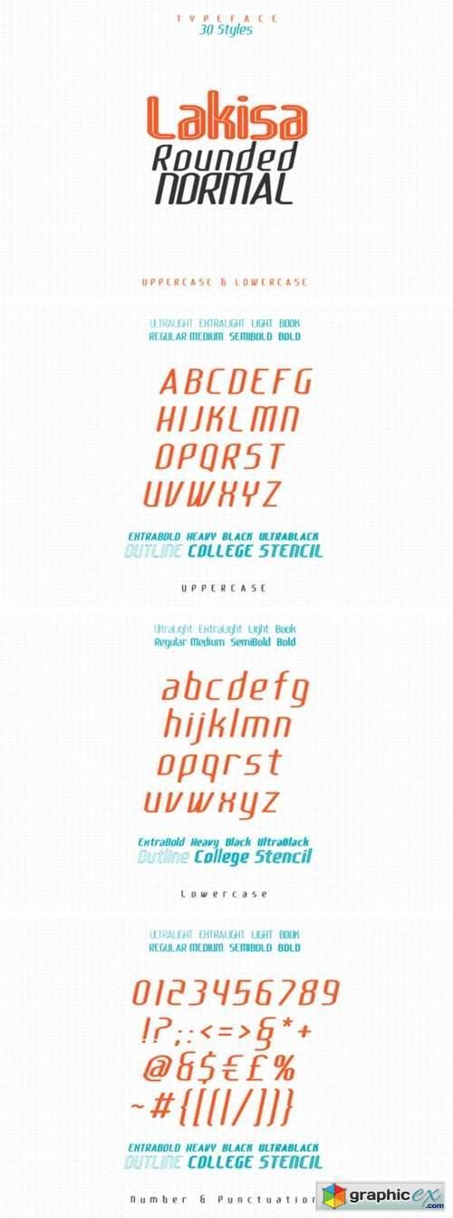Lakisa Rounded Font