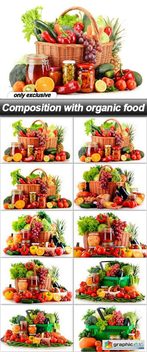 Composition with organic food - 10 UHQ JPEG