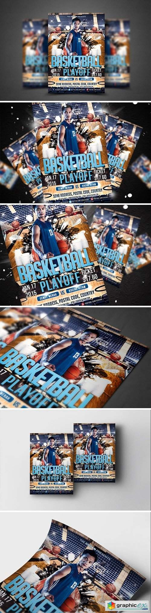 Basketball Playoff Flyer Template 3940932