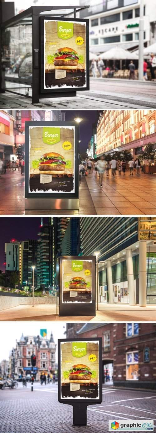 Burger Restaurant Flyer Template 3944319
