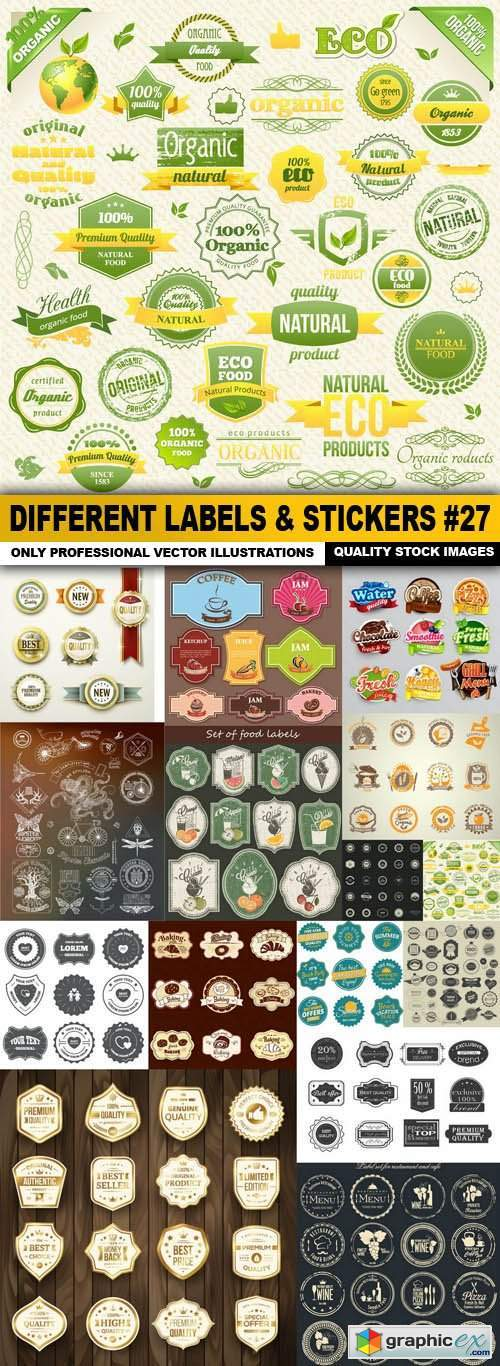 Different Labels & Stickers #27 - 15 Vector