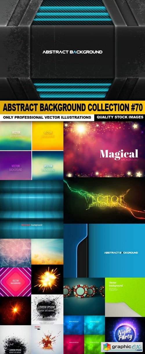 Abstract Background Collection #70 - 18 Vector