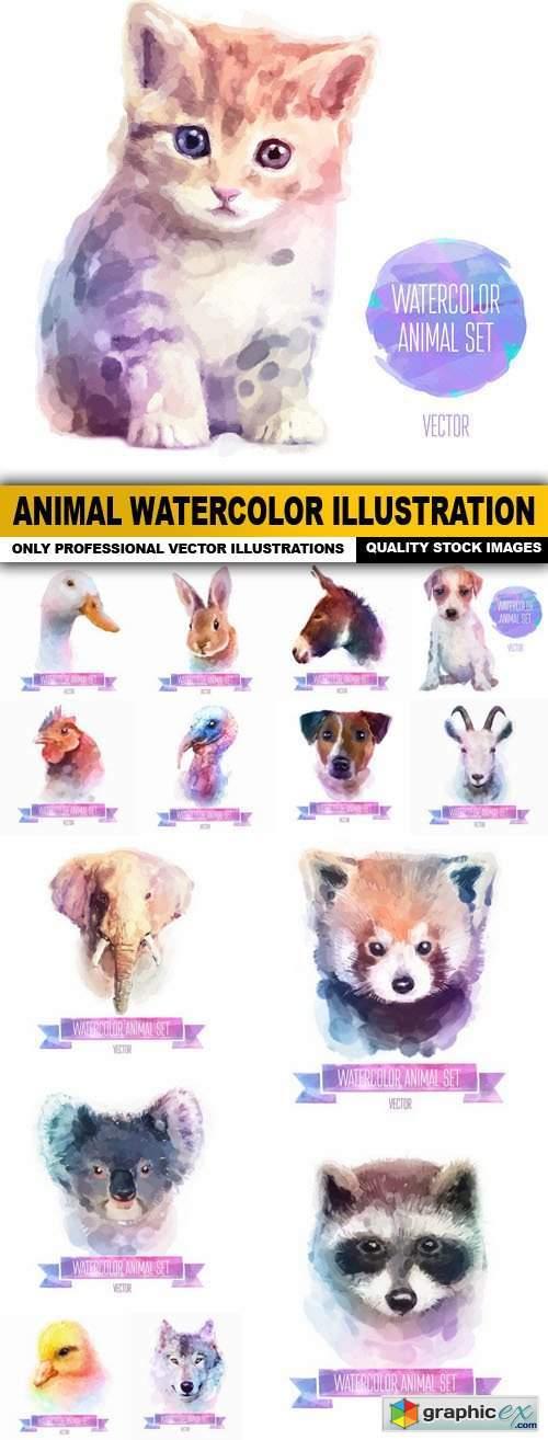 Animal Watercolor Illustration - 25 Vector