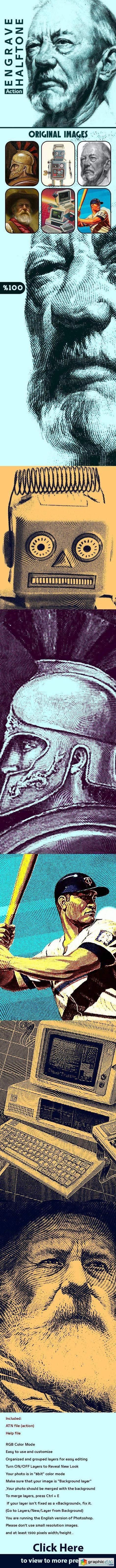 Engrave Halftone Action