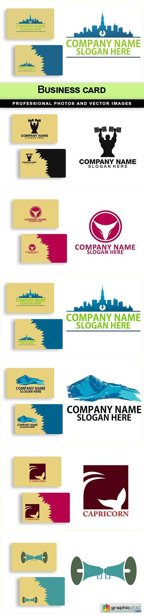 Business card - 6 EPS