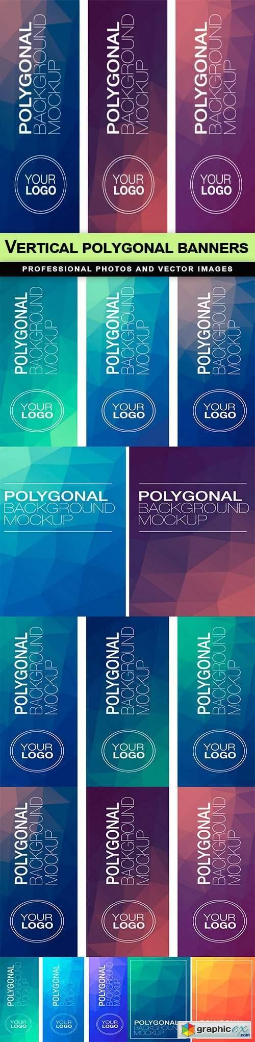 Vertical polygonal banners - 6 EPS