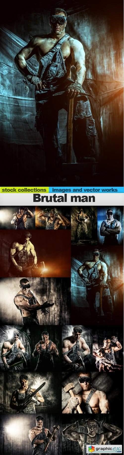 Brutal man, 15 x UHQ JPEG