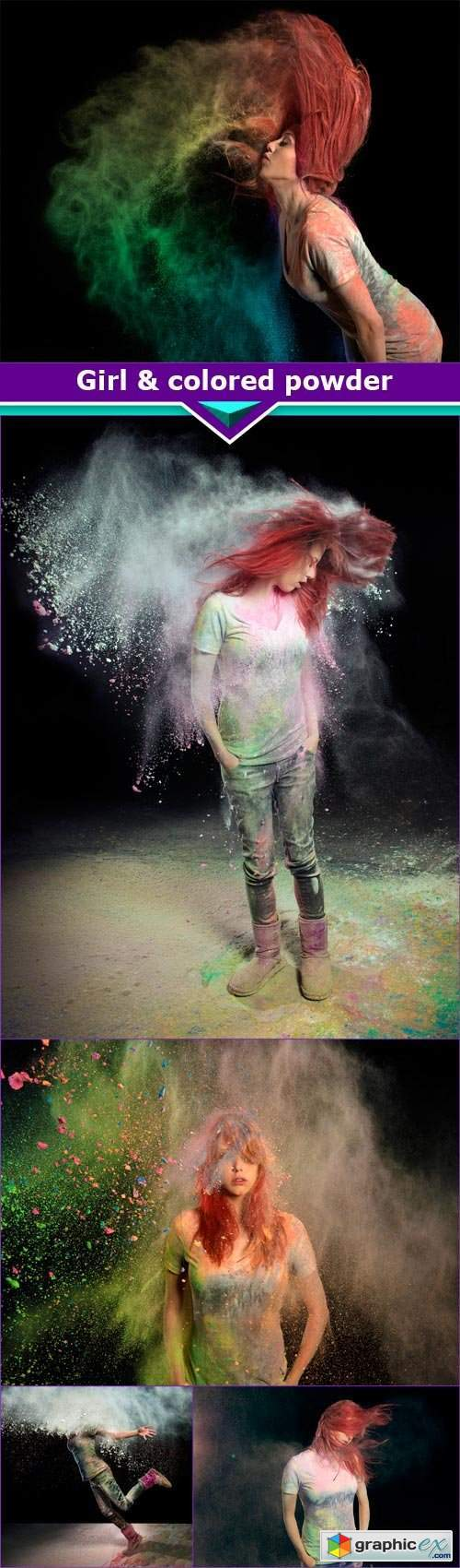 Girl & colored powder 5x JPEG