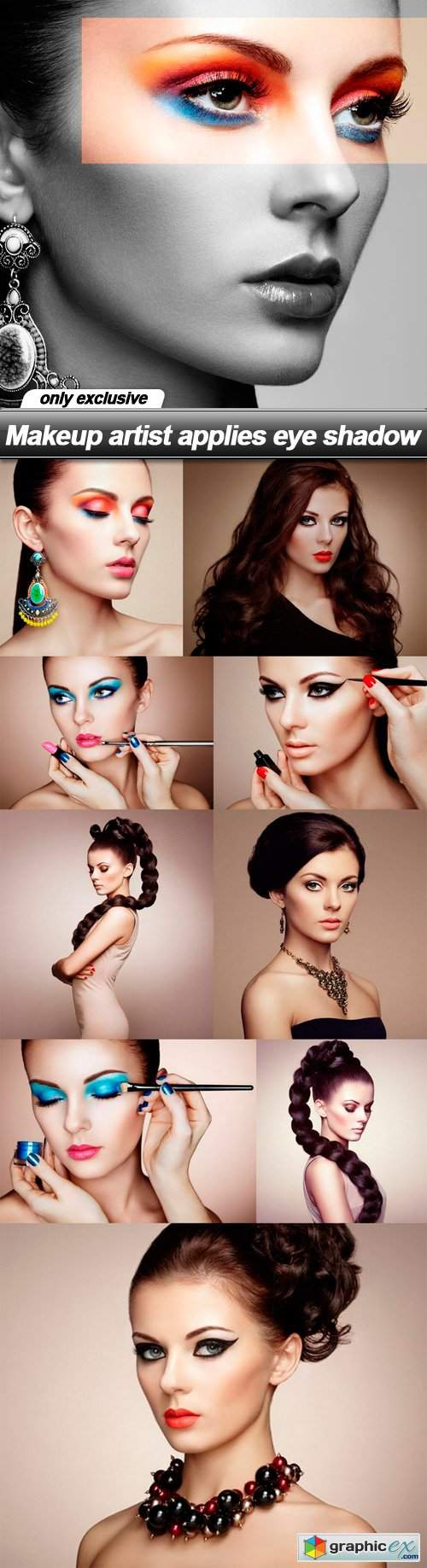 Makeup artist applies eye shadow - 10 UHQ JPEG