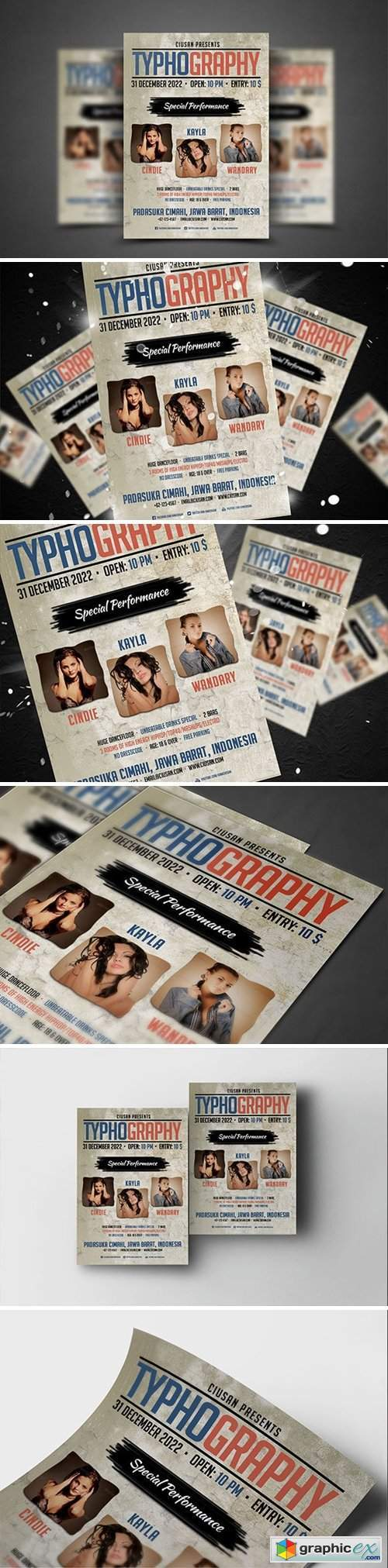 Typhography Flyer Template