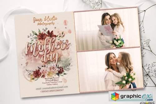 Mother's Day Digital Photoshop Template