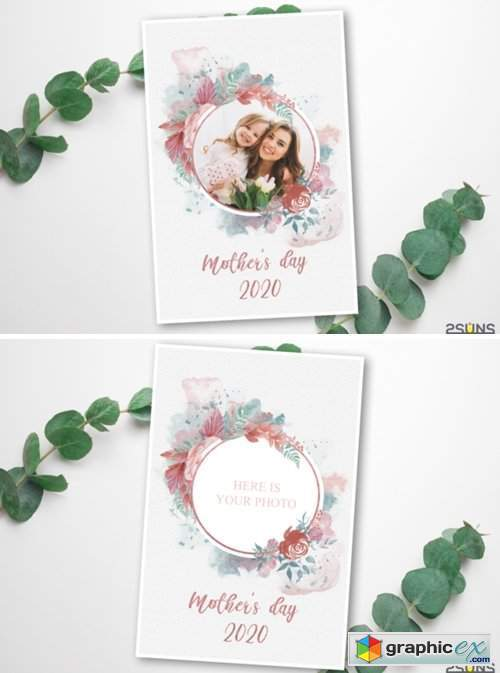 Mother's Day Digital Photoshop Template 3975764