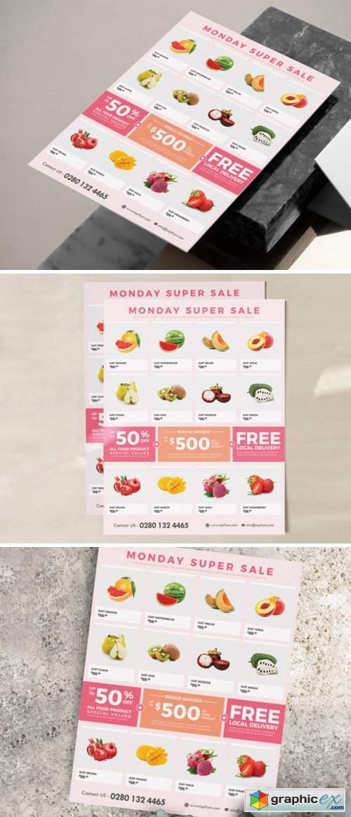 Supermarket / Grocery Flyer Template