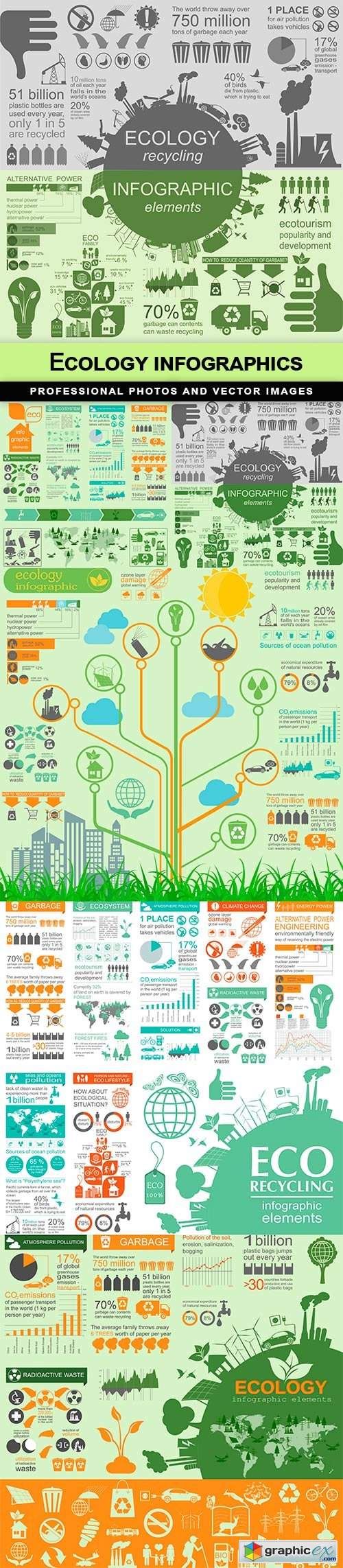 Ecology infographics - 5 EPS