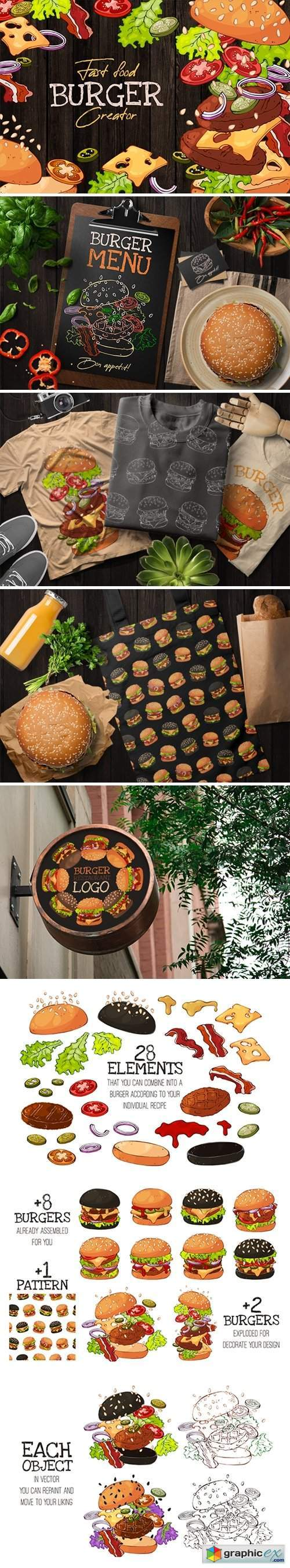 Fast Food Burger Creator