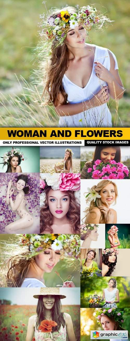 Woman And Flowers - 15 HQ Images