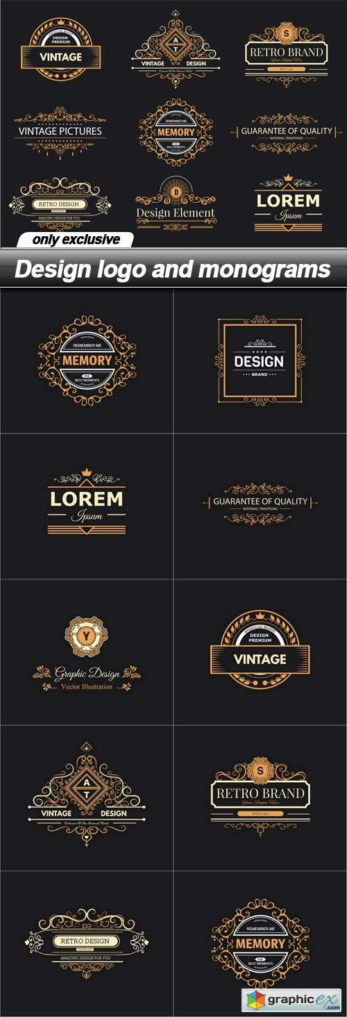 Design logo and monograms - 10 EPS