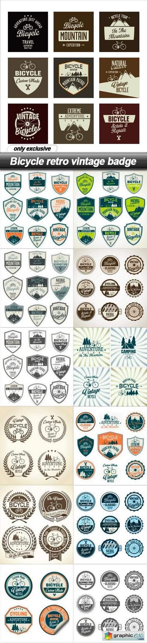 Bicycle retro vintage badge - 13 EPS
