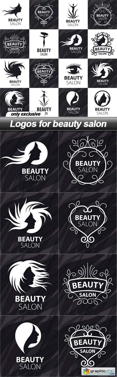Logos for beauty salon - 9 EPS