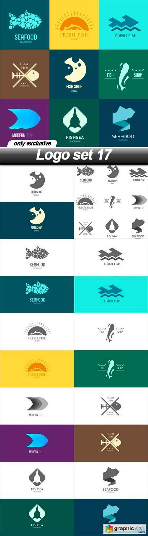 Logo set 18 - 11 EPS