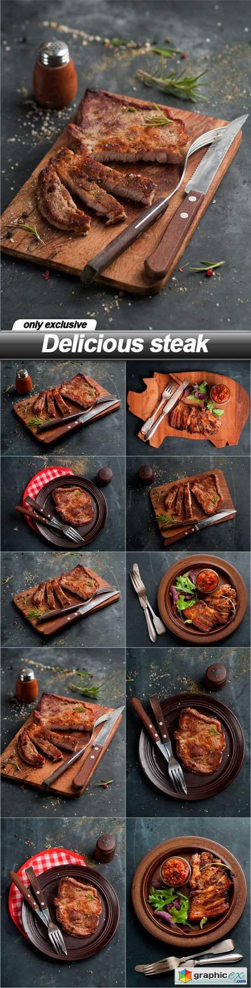 Delicious steak - 10 UHQ JPEG