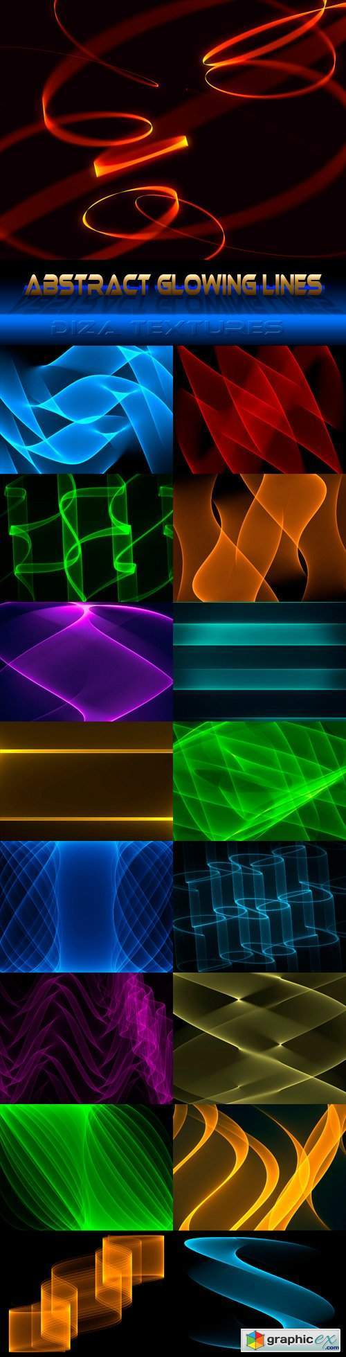 Abstract glowing lines textures