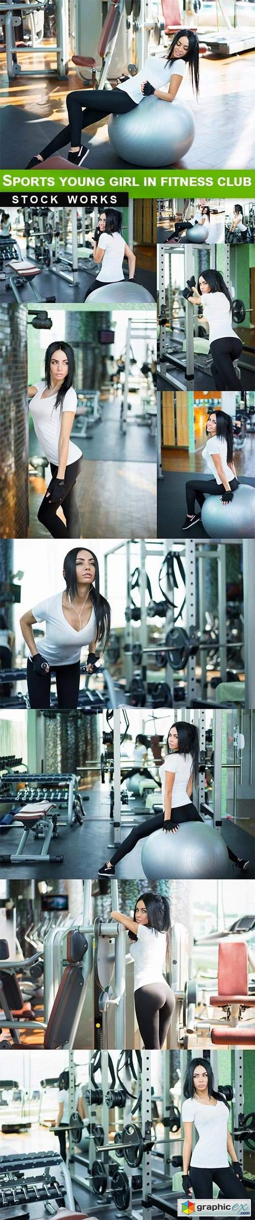 Sports young girl in fitness club - 10 UHQ JPEG
