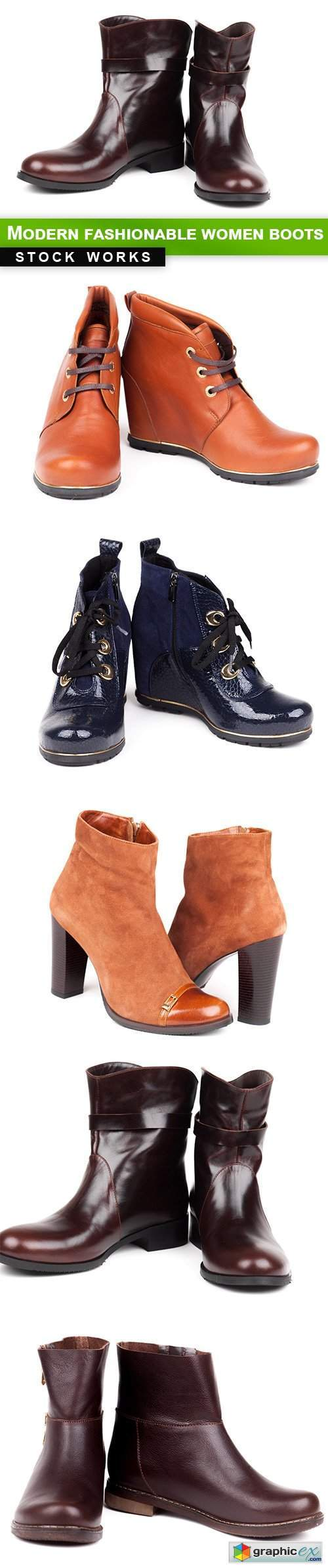 Modern fashionable women boots - 5 UHQ JPEG