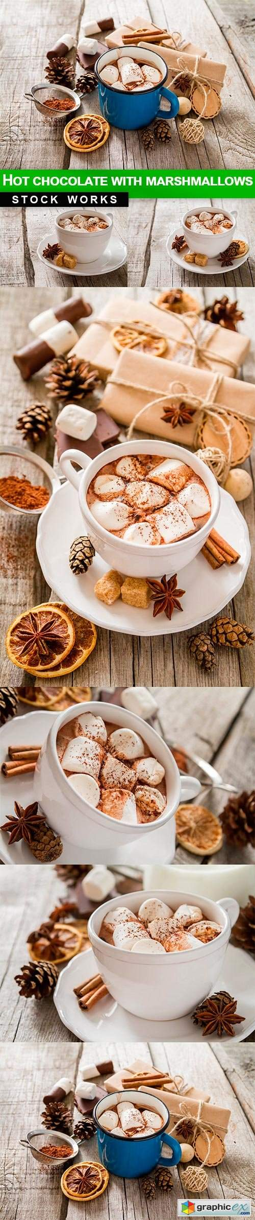 Hot chocolate with marshmallows - 7 UHQ JPEG