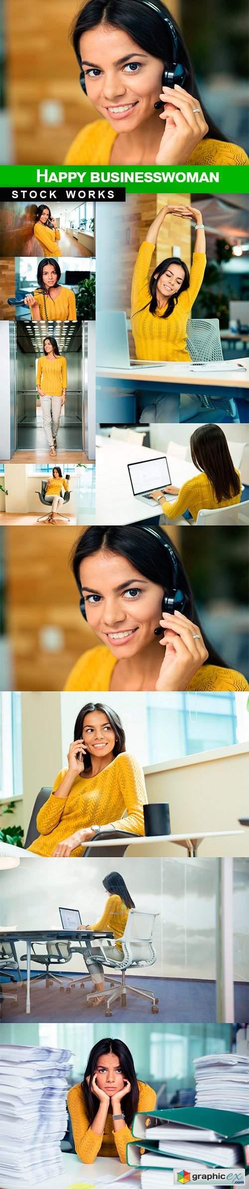 Happy businesswoman - 10 UHQ JPEG