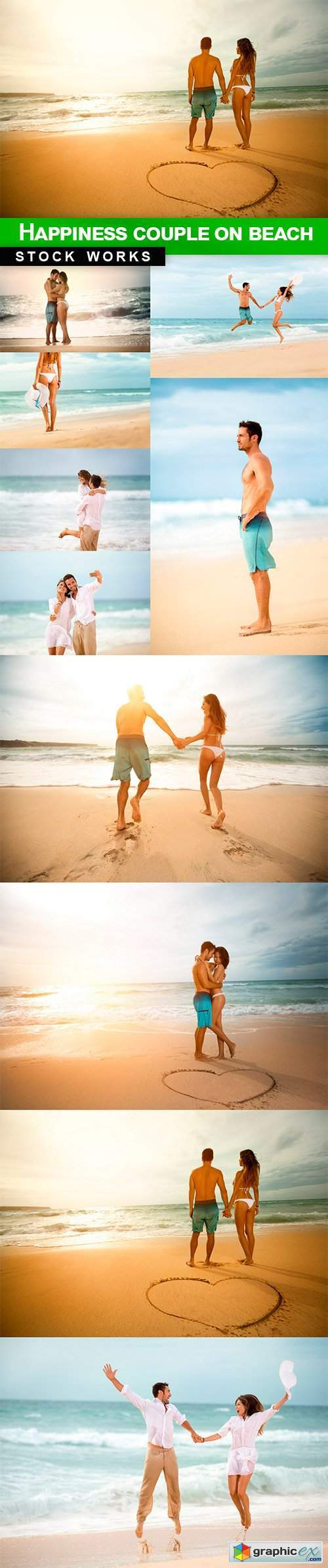 Happiness couple on beach - 10 UHQ JPEG