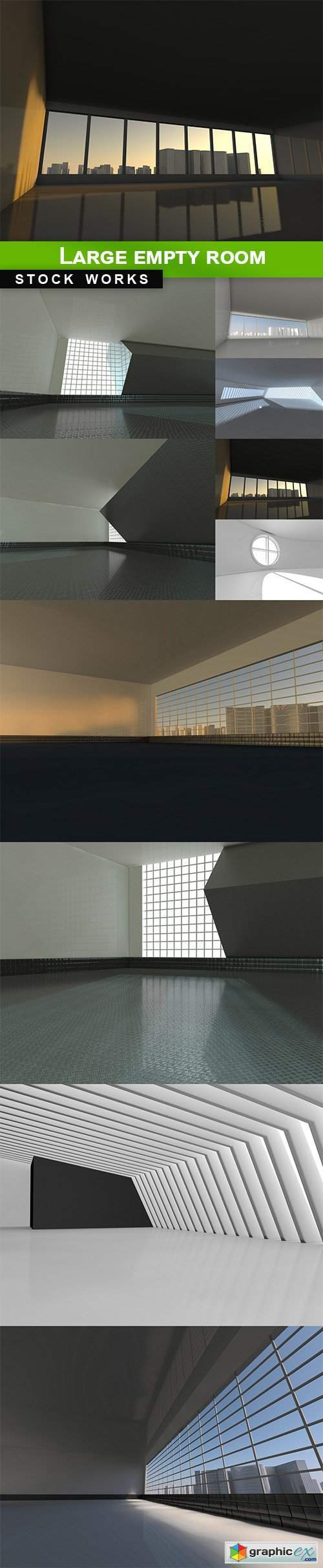 Large empty room - 10 UHQ JPEG