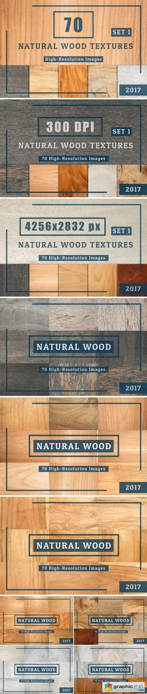 70 Natural Wood Table Textures Set 1