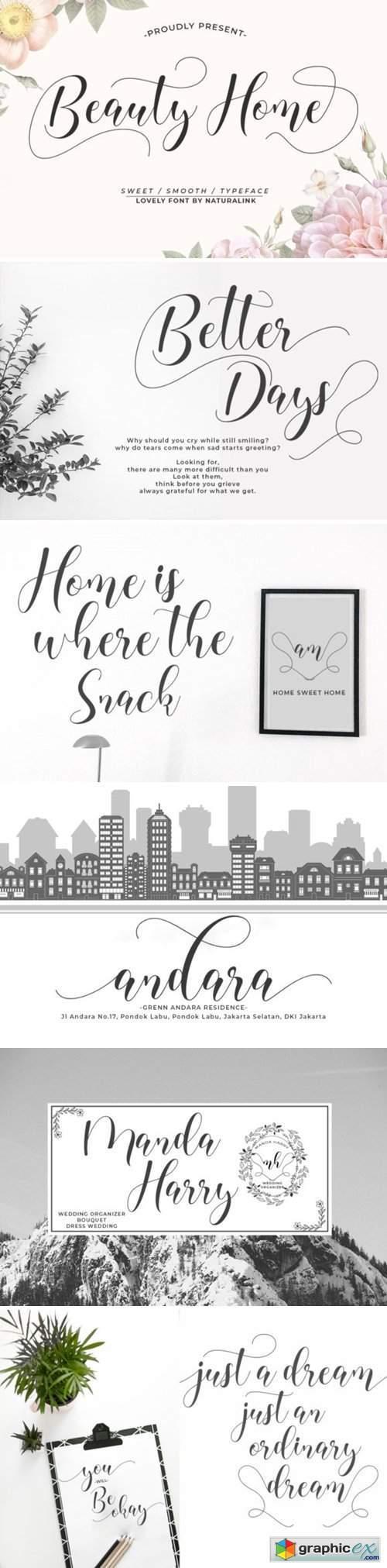 Beauty Home Font