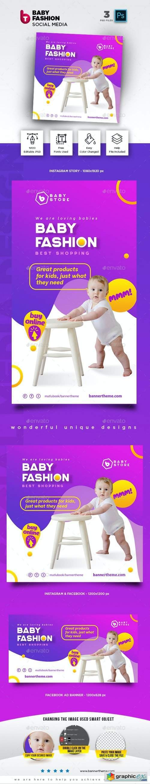 Baby Fashion Social Media Pack
